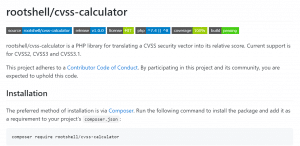 CVSS Calculator - Vulnerability Management - GitHub - Rootshell