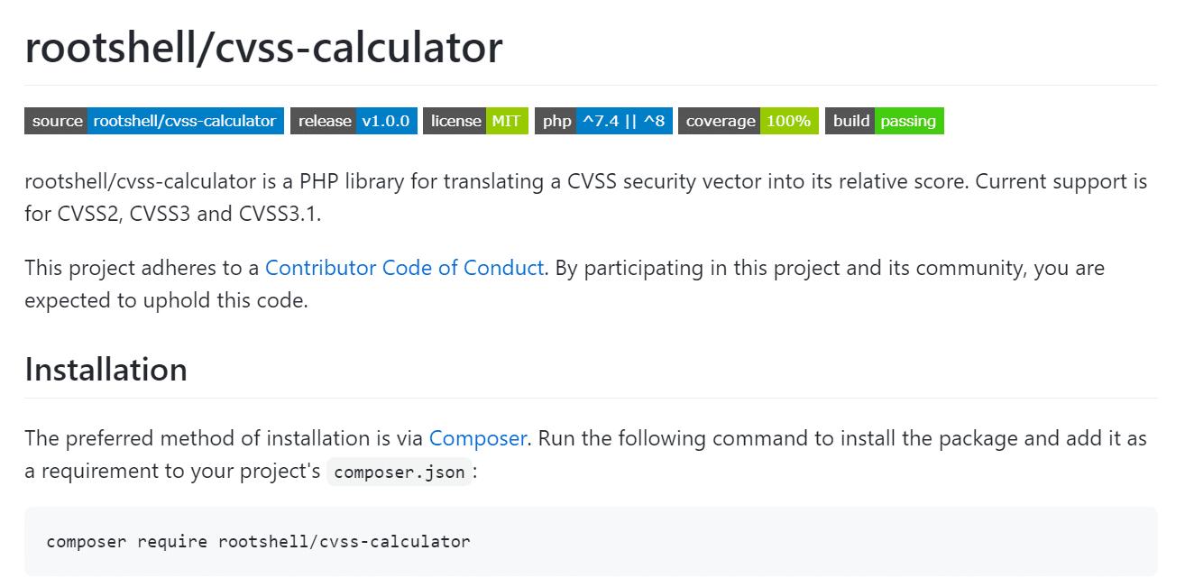 CVSS Calculator - Vulnerability Management - GitHub - Rootshell
